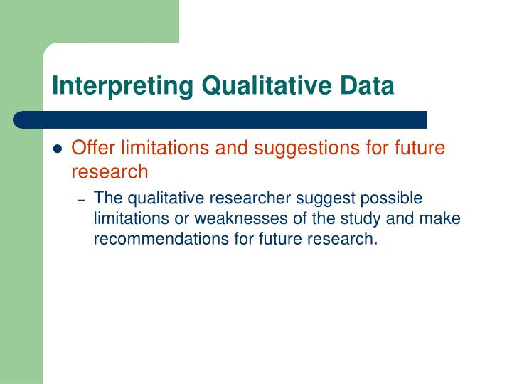 Interpreting Qualitative Data