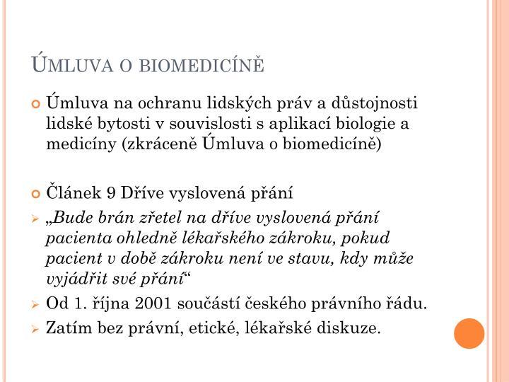 Úmluva o biomedicíně