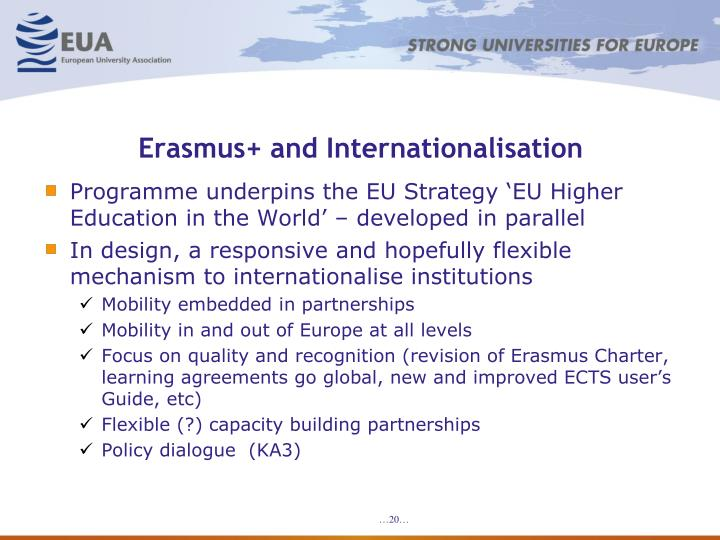 Erasmus+ and Internationalisation