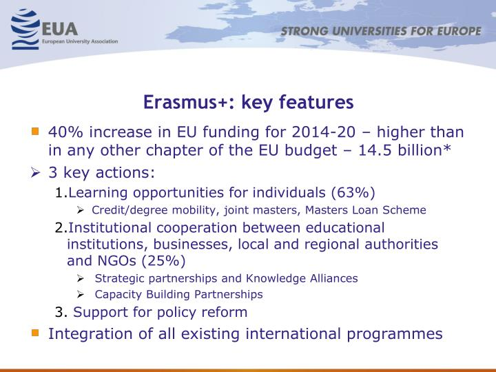 Erasmus+: key features