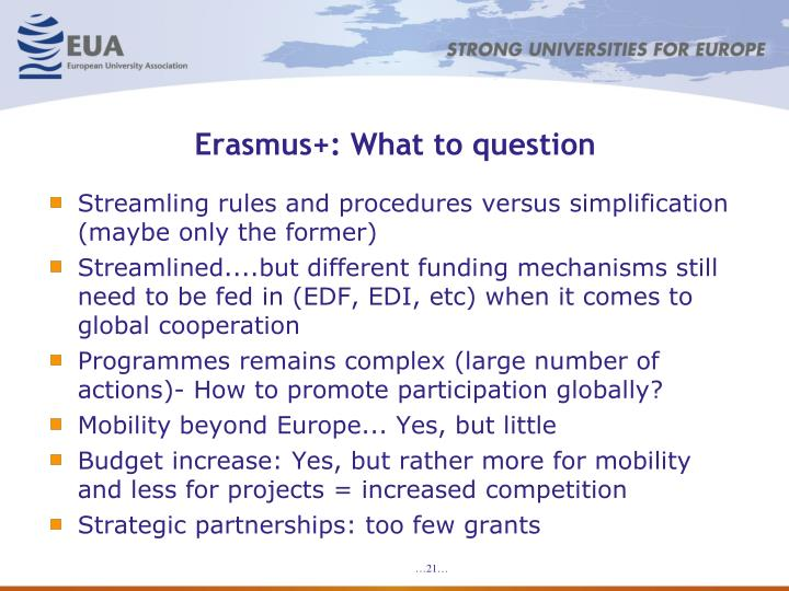 Erasmus+: What to question