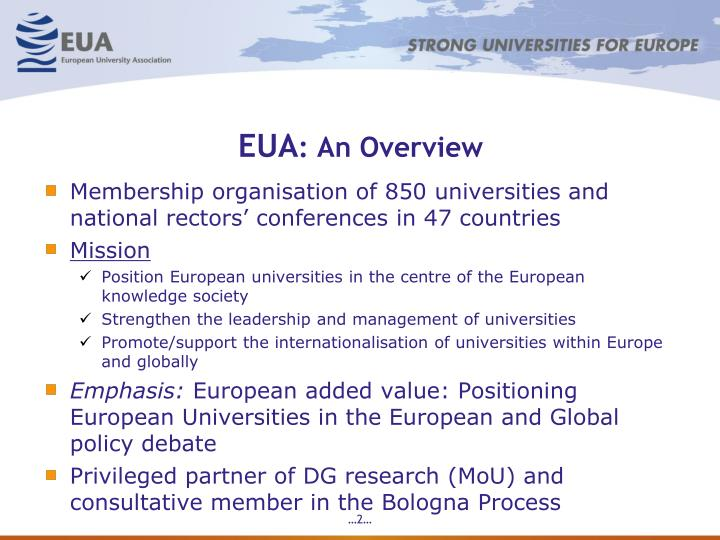 Eua an overview