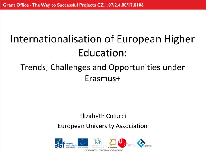 Internationalisation of European Higher Education: