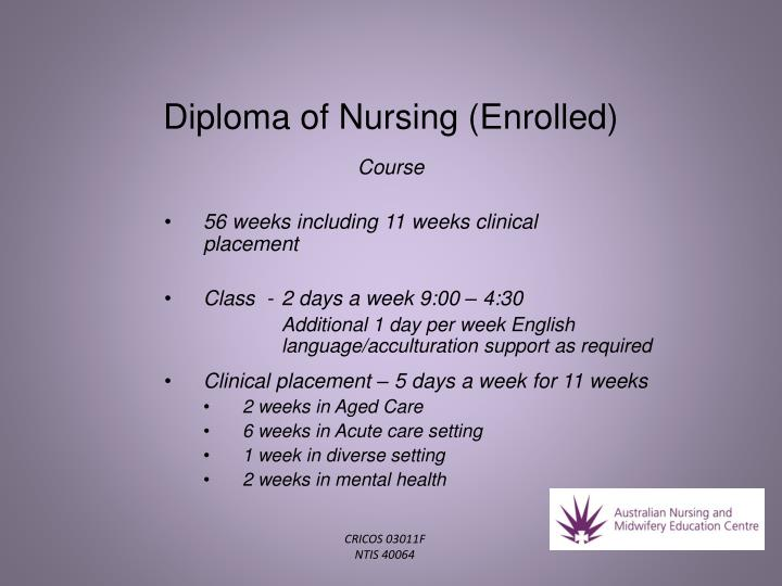 Diploma of nursing enrolled1