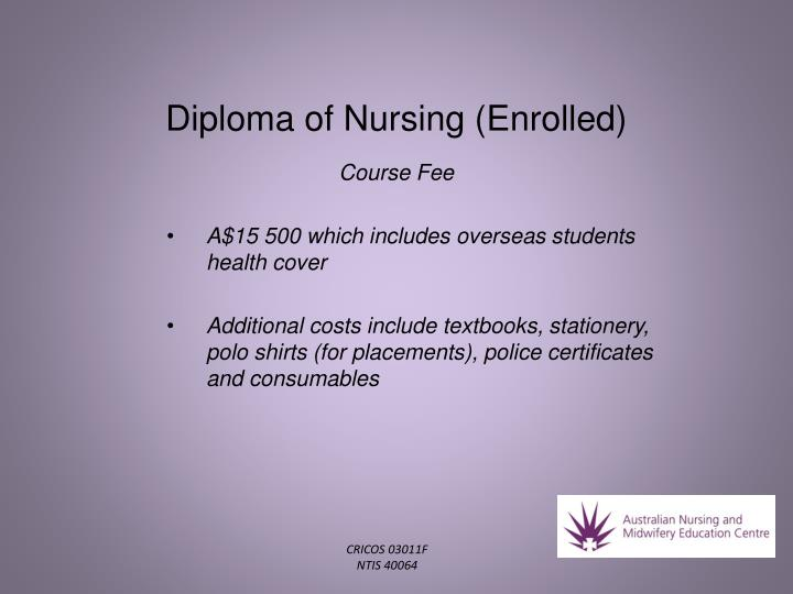 Diploma of Nursing (Enrolled)