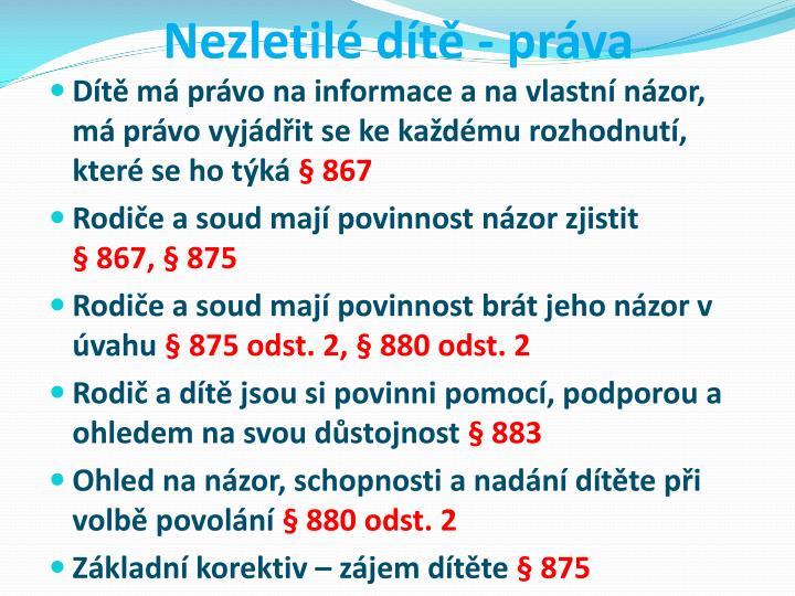 Nezletil dt - prva