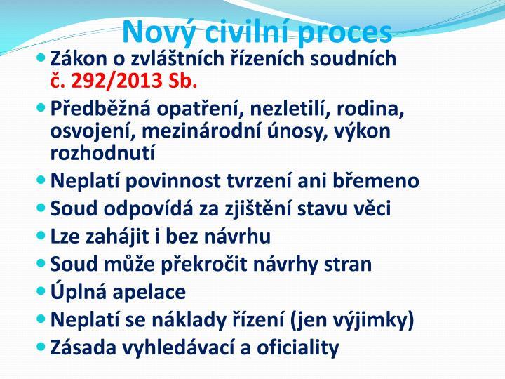 Nov civiln proces