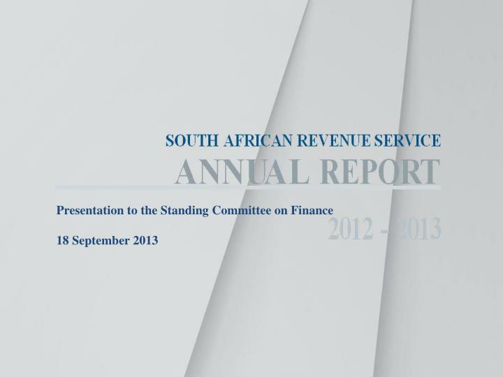 South african revenue service annual report 2012 2013