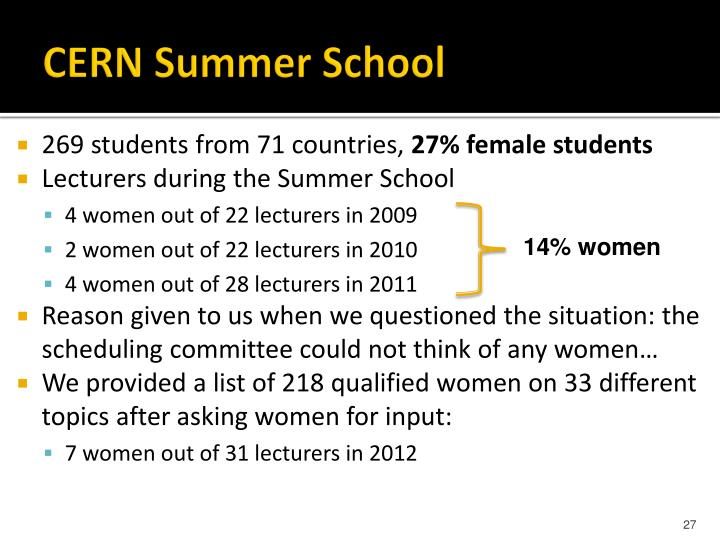 CERN Summer School