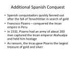 additional spanish conquest