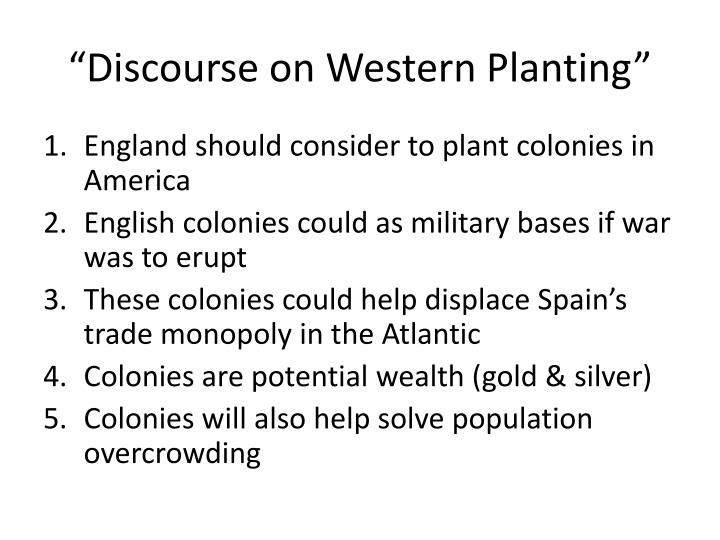 """Discourse on Western Planting"""
