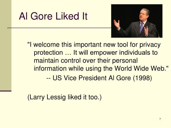 Al Gore Liked It