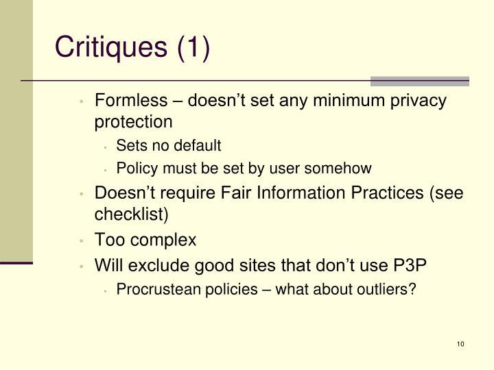 Critiques (1)