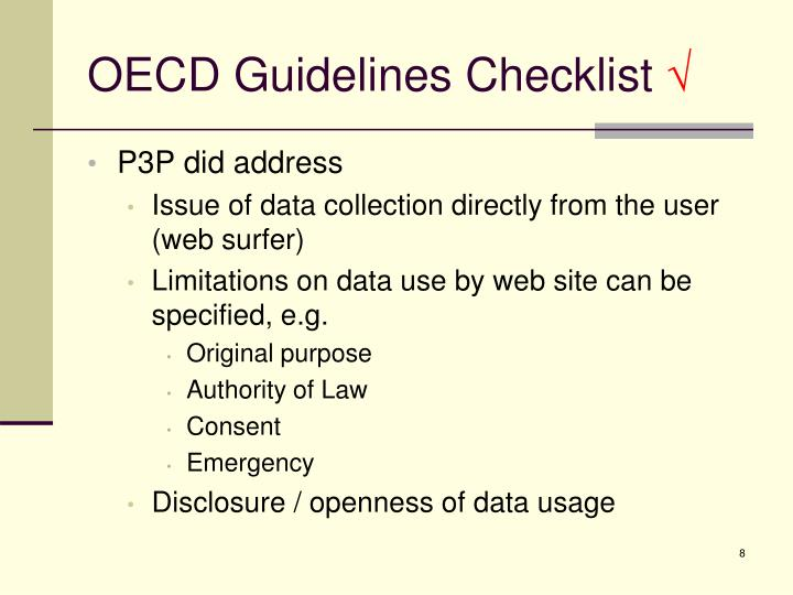 OECD Guidelines Checklist