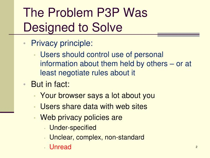 The Problem P3P Was Designed to Solve