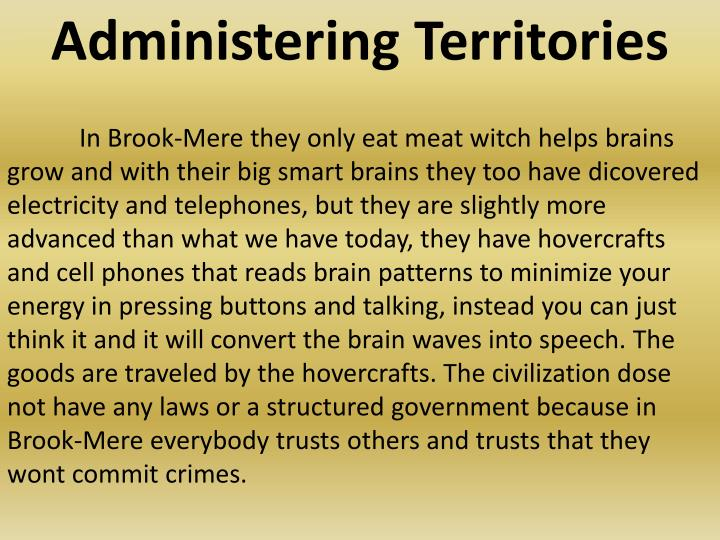 Administering Territories