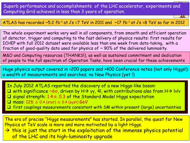 Superb performance and accomplishments  of the LHC accelerator, experiments and