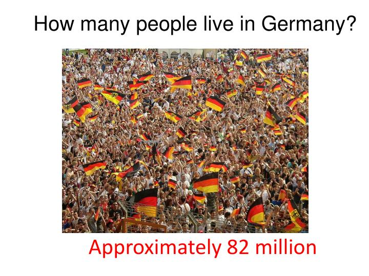 How many people live in Germany?