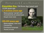hominids early humans