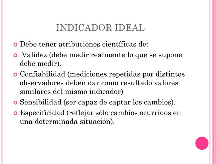 INDICADOR IDEAL