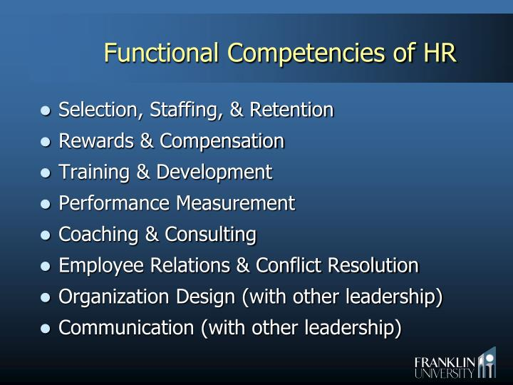 Functional Competencies of HR