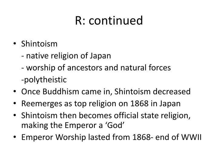 R: continued