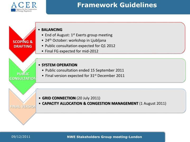Framework Guidelines
