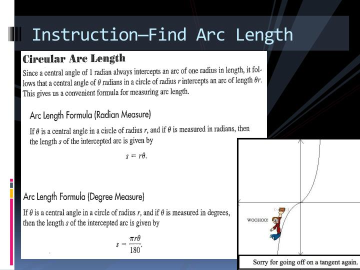 Instruction—Find Arc Length