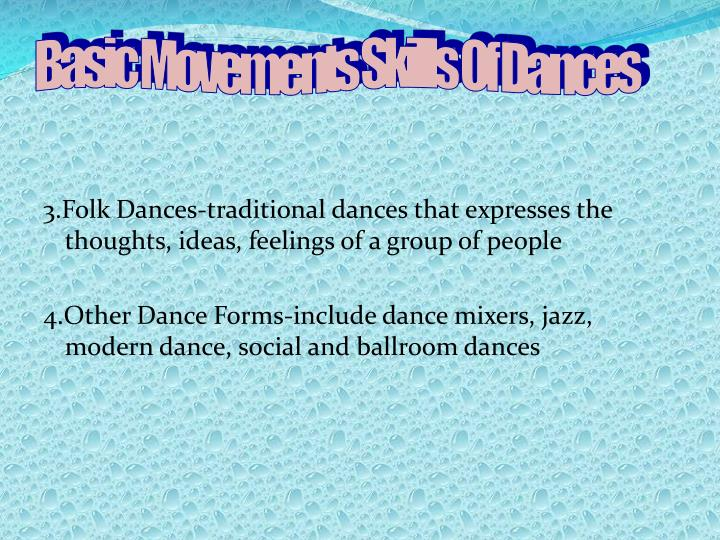 Basic Movements Skills Of Dances