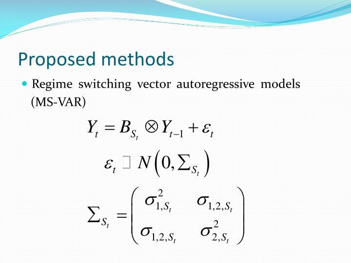 Proposed methods