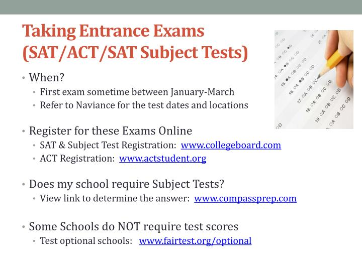 Taking Entrance Exams