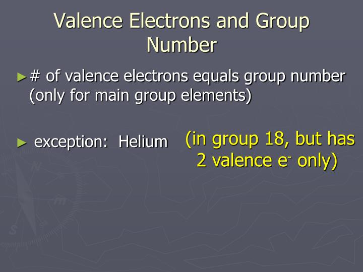 Valence Electrons and Group Number