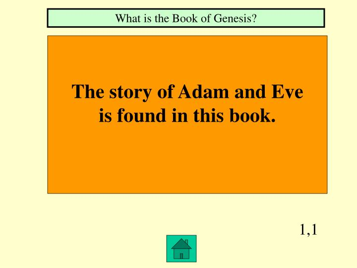 What is the Book of Genesis?