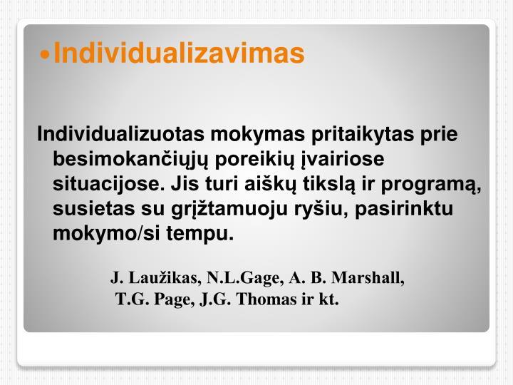 Individualizavimas