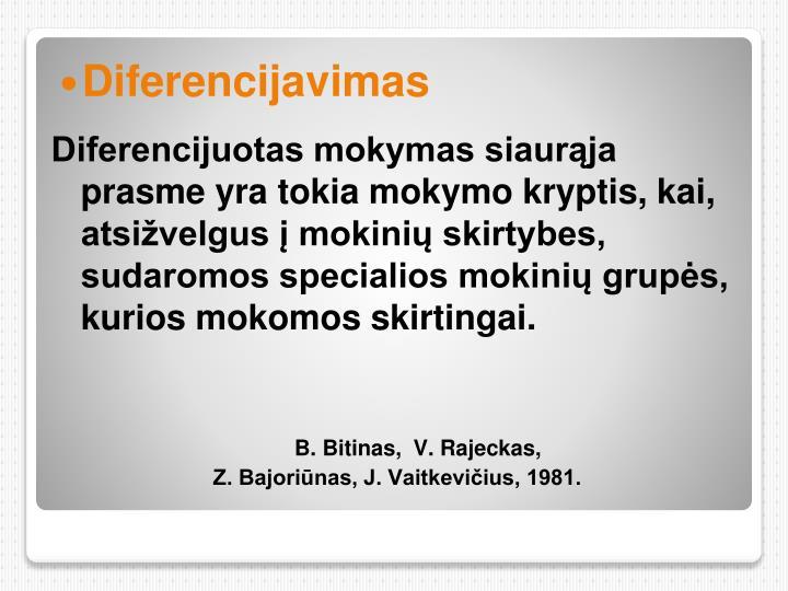 Diferencijavimas