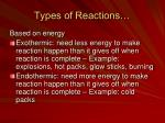 types of reactions1