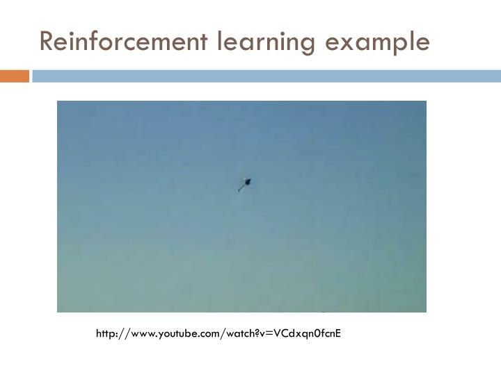 Reinforcement learning example
