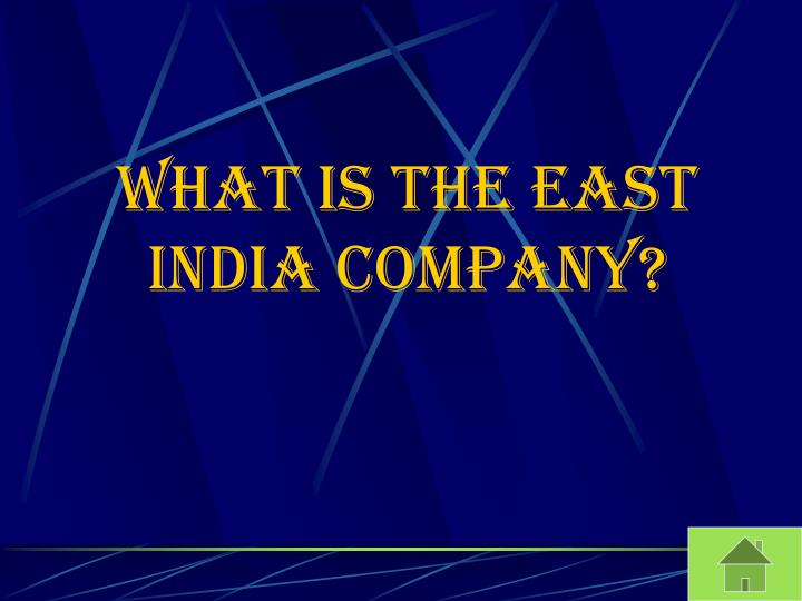 What is the East India Company?