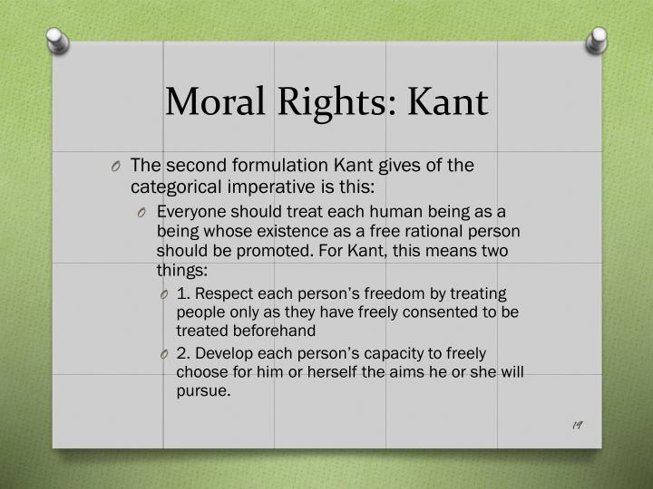 Moral Rights: Kant