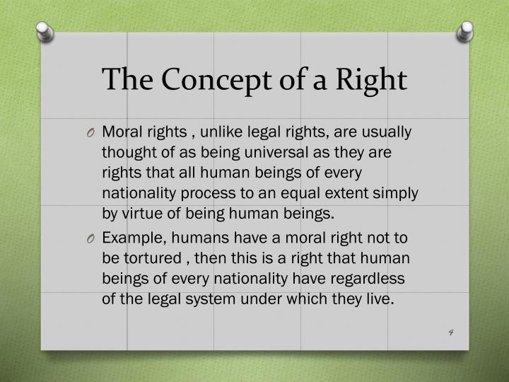 The Concept of a Right