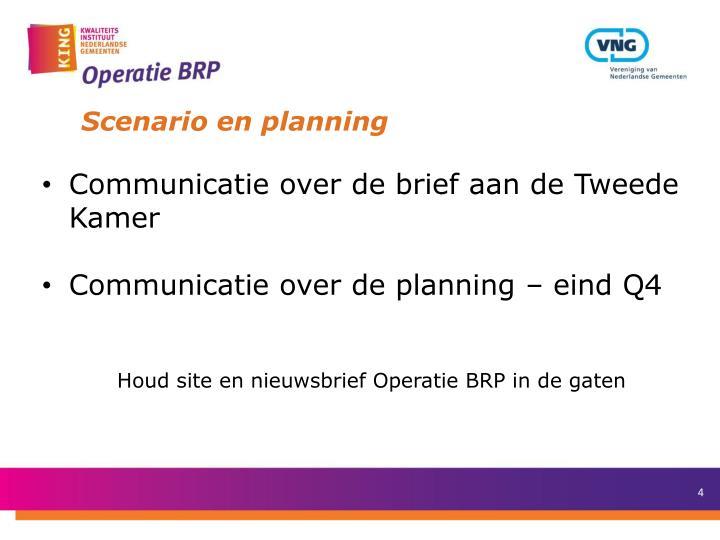 Scenario en planning