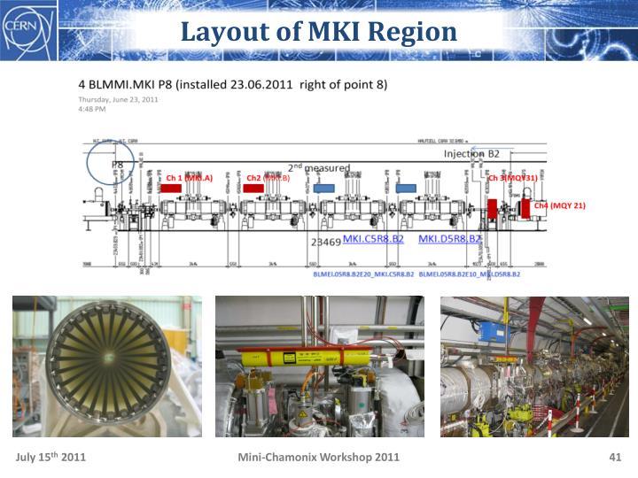 Layout of MKI Region