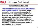 honorable frank kendall