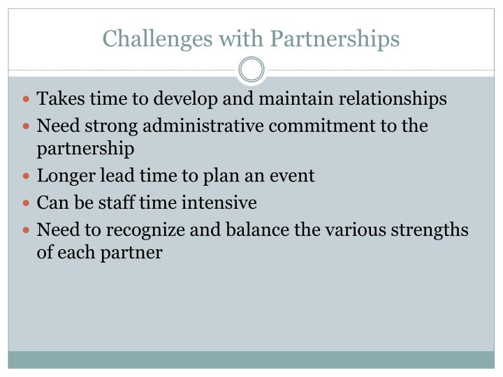 Challenges with Partnerships