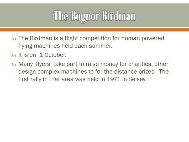 The bognor birdman