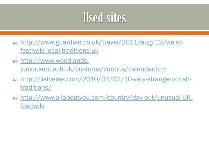 Used sites