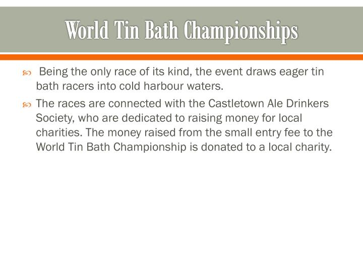 World Tin Bath Championships