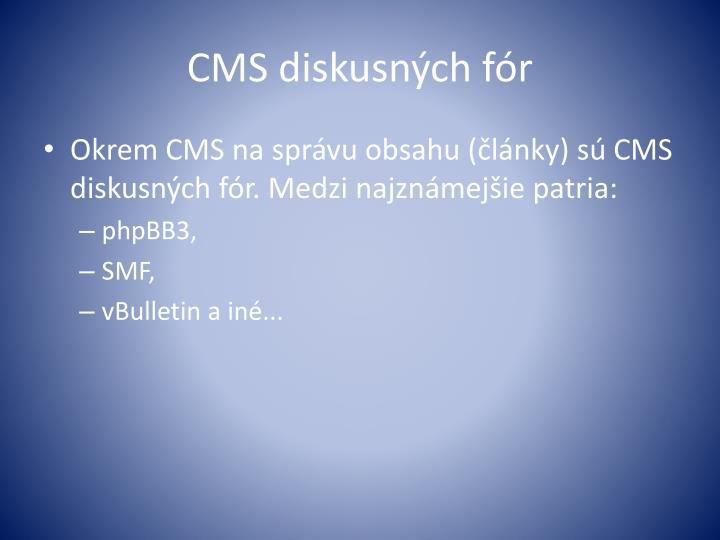 CMS diskusných fór