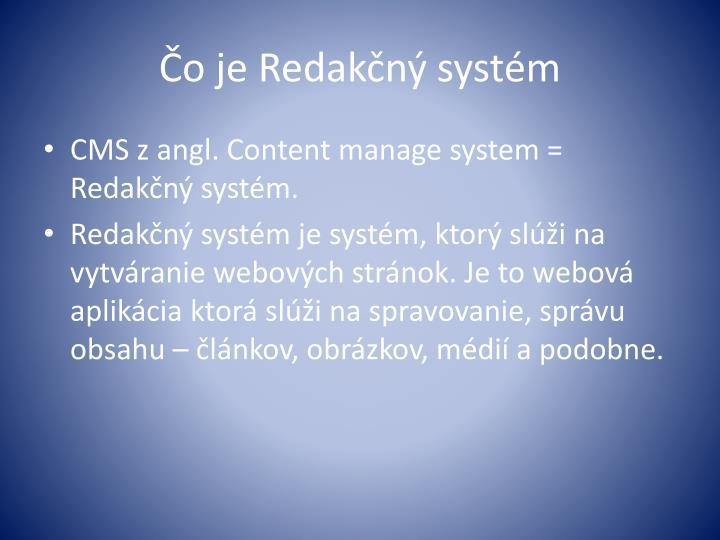 Čo je Redakčný systém