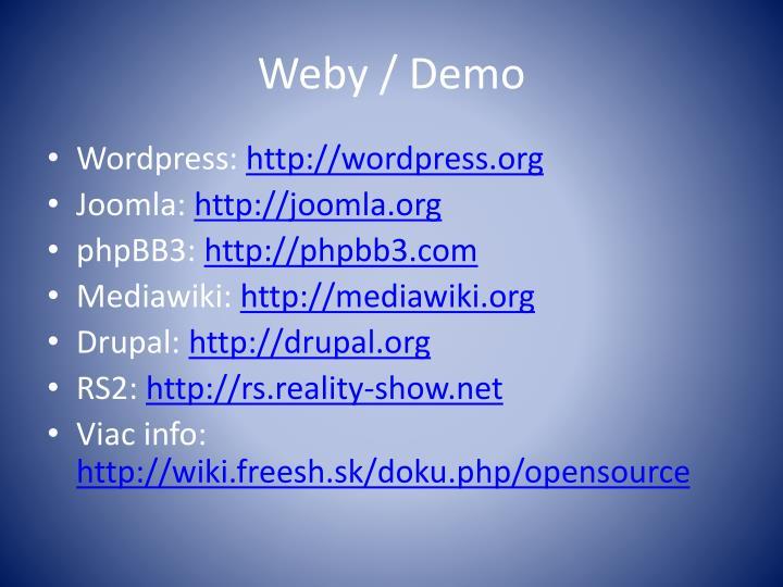 Weby /
